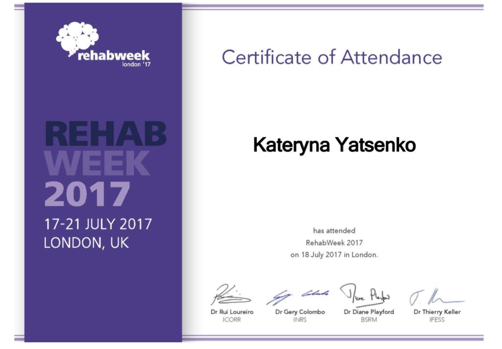 RehabWeek 2017
